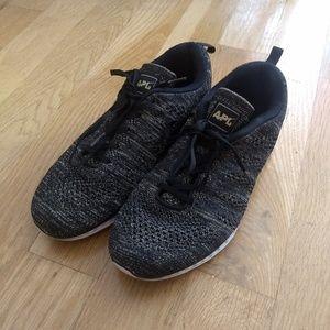 APL Techloom Pro Black & Gold Shoes
